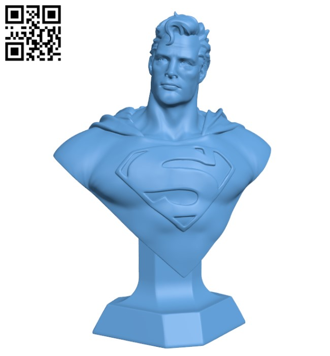 Man of Steel Bust H000237 file stl free download 3D Model for CNC and 3d printer
