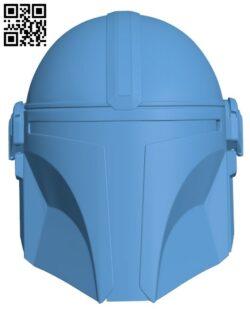 Mandalorian Helmet H000087 file stl free download 3D Model for CNC and 3d printer