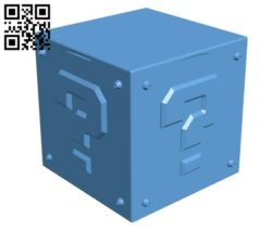Mario Mystery Box  H000033 file stl free download 3D Model for CNC and 3d printer