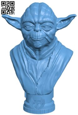 Master Yoda Bust H000207 file stl free download 3D Model for CNC and 3d printer