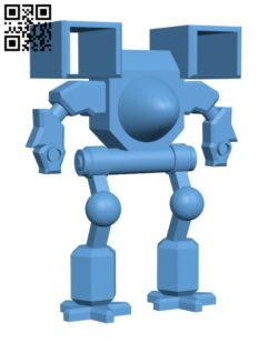 Mech Style Robot H000344 file stl free download 3D Model for CNC and 3d printer