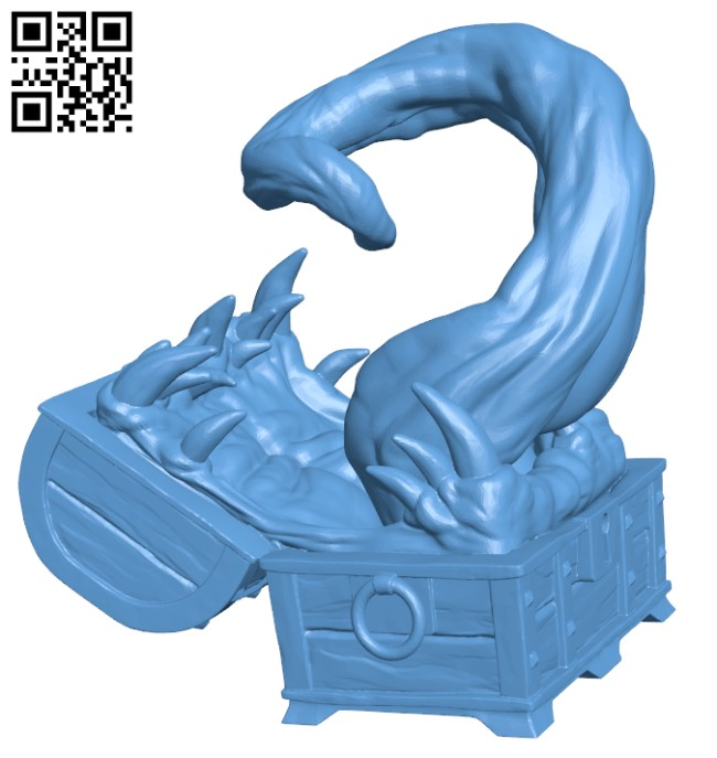 Mimic - Toothy Treasure Chest H000310 file stl free download 3D Model for CNC and 3d printer