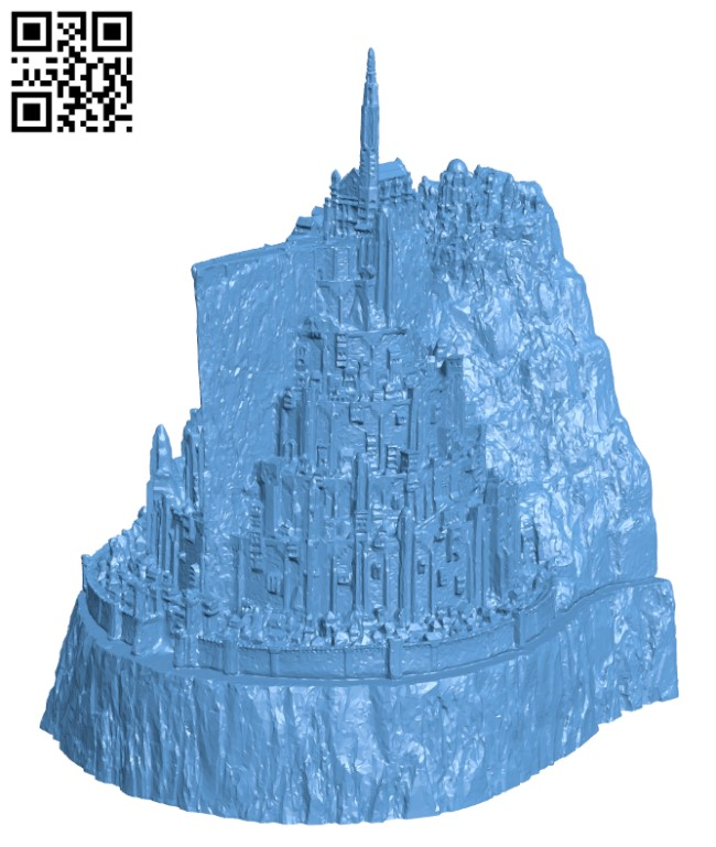 Minas Tirith H000345 file stl free download 3D Model for CNC and 3d printer