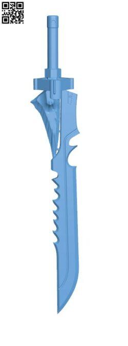 Mini Raze-lighter Sword from Destiny H000069 file stl free download 3D Model for CNC and 3d printer