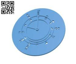 Minimalist Clock H000034 file stl free download 3D Model for CNC and 3d printer