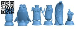 Minion Chess H000088 file stl free download 3D Model for CNC and 3d printer