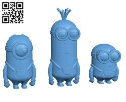 Minion Movie Trio H000373 file stl free download 3D Model for CNC and 3d printer