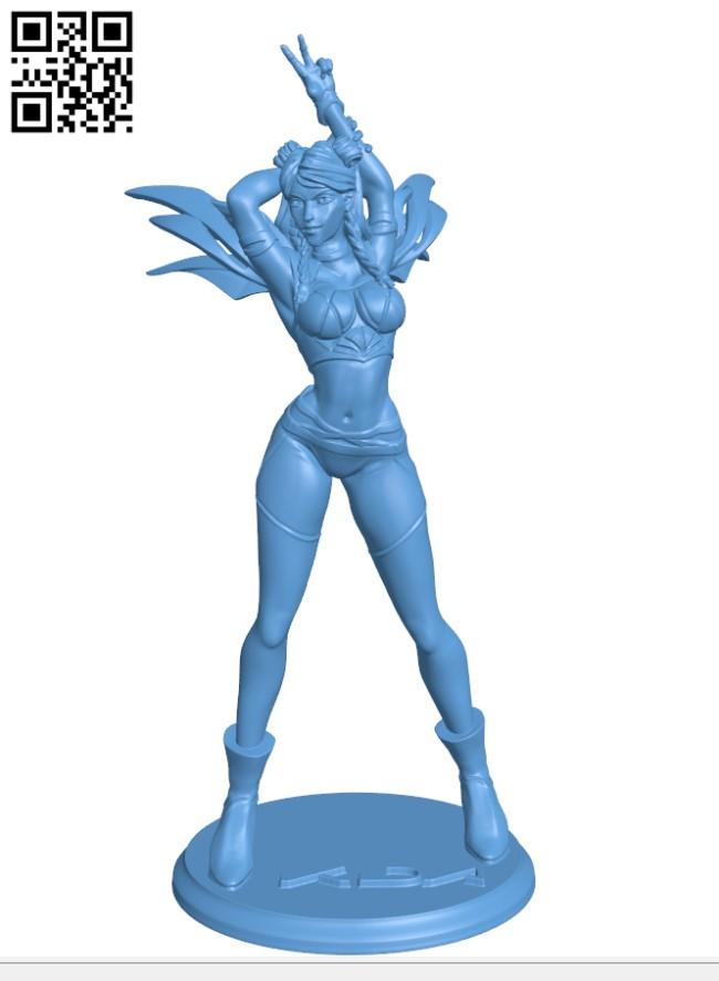 Miss KDA Kai'sa - Leagle of legends H000482 file stl free download 3D Model for CNC and 3d printer