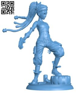 Molly the Punk H000149 file stl free download 3D Model for CNC and 3d printer