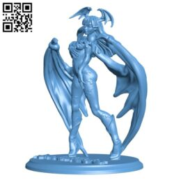 Morrigan – DarkStalkers H000283 file stl free download 3D Model for CNC and 3d printer