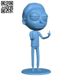 Morty Bobble Head de – Rick and Morty H000239 file stl free download 3D Model for CNC and 3d printer