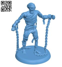 Mummy with chains H000240 file stl free download 3D Model for CNC and 3d printer