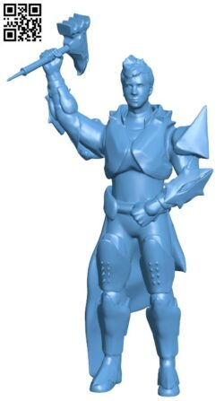 MyMiniYou Rees the Titan from destiny H000072 file stl free download 3D Model for CNC and 3d printer