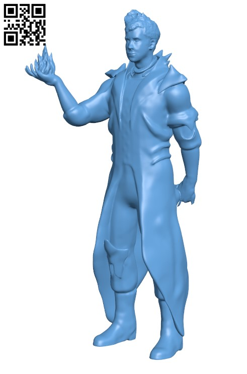 MyMiniYou Rees the Warlock from destiny H000073 file stl free download 3D Model for CNC and 3d printer