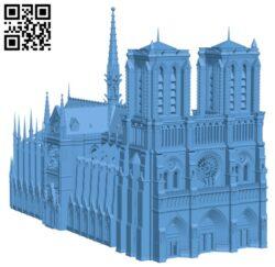 Notre-Dame de Paris Cathedral H000152 file stl free download 3D Model for CNC and 3d printer