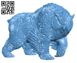 Obear – Tabletop Miniature H000284 file stl free download 3D Model for CNC and 3d printer