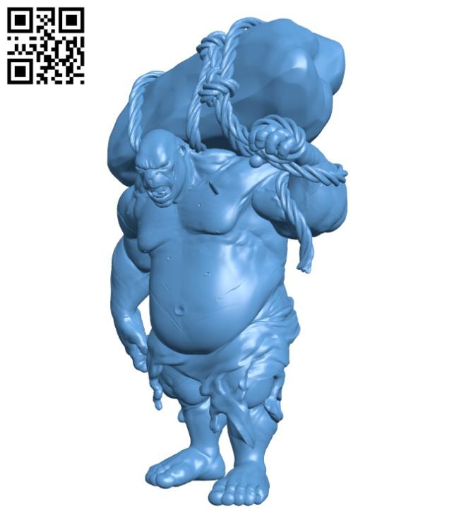 Ogre - Tabletop Miniature H000285 file stl free download 3D Model for CNC and 3d printer