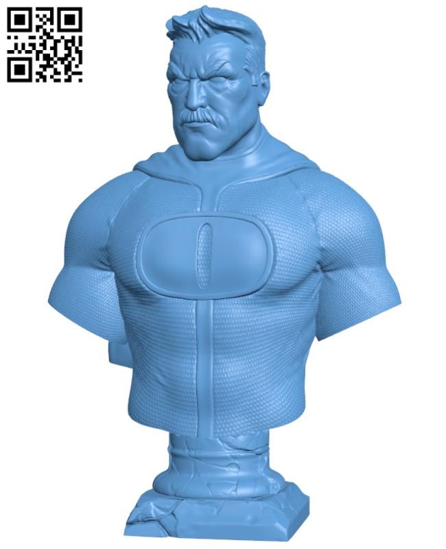 Omni-Man - Invincible Fanart Bust H000287 file stl free download 3D Model for CNC and 3d printer