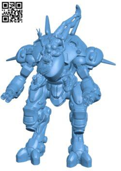 Overwatch – D.Va & Meka Mercy H000180 file stl free download 3D Model for CNC and 3d printer