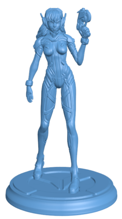 Overwatch – D.Va Mercy H000181 file stl free download 3D Model for CNC and 3d printer