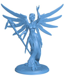 Overwatch -Mercy H000183 file stl free download 3D Model for CNC and 3d printer