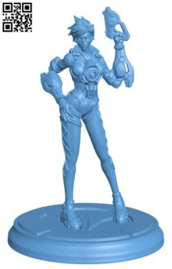 Overwatch – Tracer Full Figure H000182 file stl free download 3D Model for CNC and 3d printer