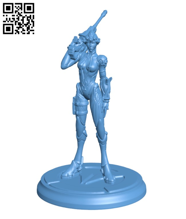 Overwatch - Widowmaker - Woman - Gunner H000390 file stl free download 3D Model for CNC and 3d printer