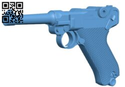 P08 Luger – Gun H000212 file stl free download 3D Model for CNC and 3d printer