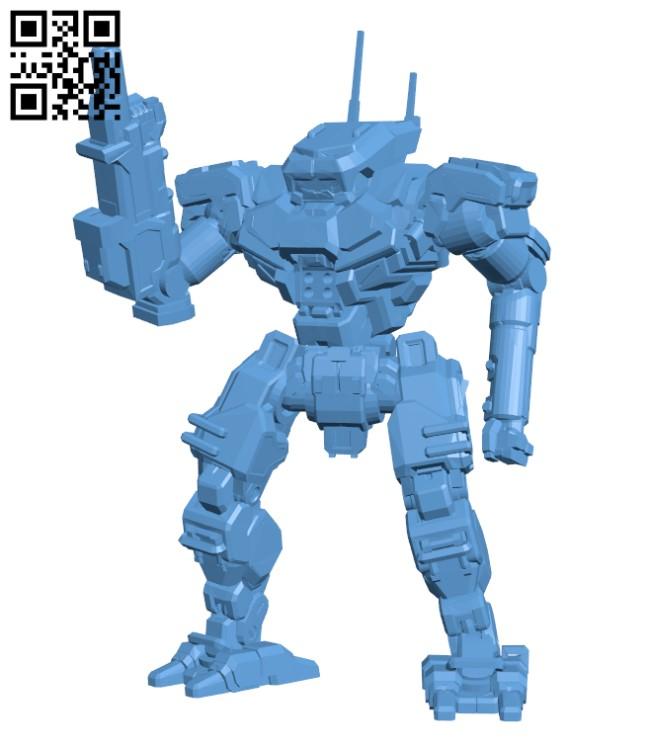 PNT-9R Panther for Battletech - Robot H000464 file stl free download 3D Model for CNC and 3d printer