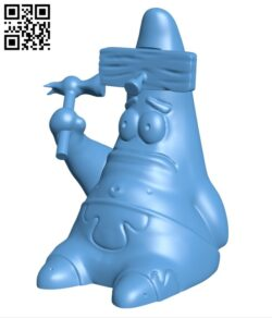 Patrick with the hammer H000483 file stl free download 3D Model for CNC and 3d printer