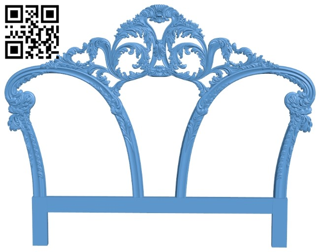 Pattern of the bed frame A006578 download free stl files 3d model for CNC wood carving