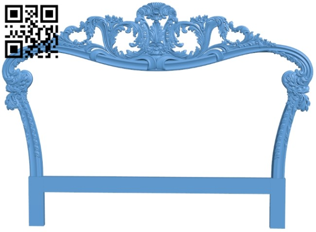 Pattern of the bed frame A006579 download free stl files 3d model for CNC wood carving