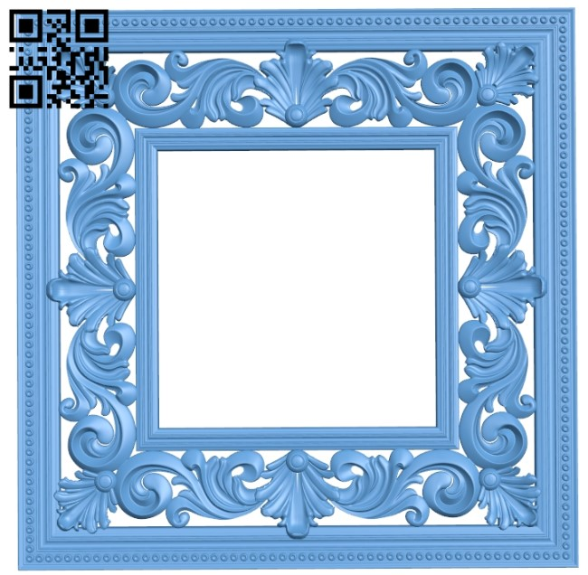 Picture frame or mirror A006570 download free stl files 3d model for CNC wood carving