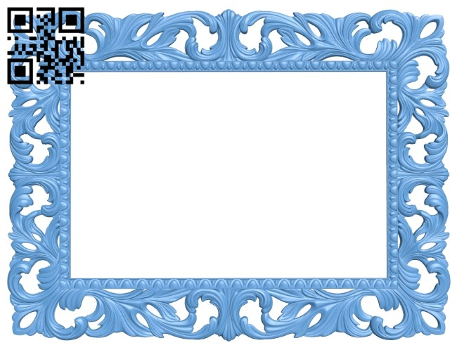 Picture frame or mirror A006572 download free stl files 3d model for CNC wood carving