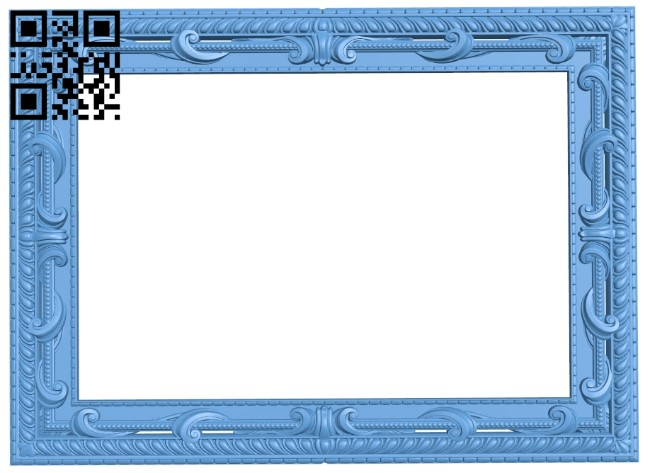 Picture frame or mirror A006573 download free stl files 3d model for CNC wood carving
