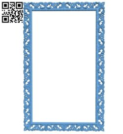 Picture frame or mirror A006576 download free stl files 3d model for CNC wood carving