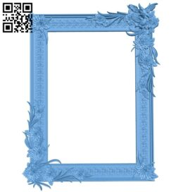 Picture frame or mirror A006577 download free stl files 3d model for CNC wood carving