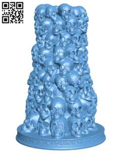 Pillar of Skulls H000412 file stl free download 3D Model for CNC and 3d printer
