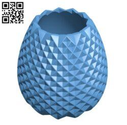 Pineapple Pen Holder H000463 file stl free download 3D Model for CNC and 3d printer