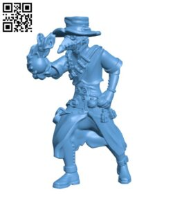 Plague doctor H000391 file stl free download 3D Model for CNC and 3d printer
