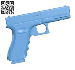 Practice glock 22 H000347 file stl free download 3D Model for CNC and 3d printer
