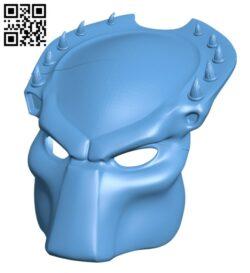 Predator mask H000311 file stl free download 3D Model for CNC and 3d printer