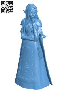 Princess Zelda H000348 file stl free download 3D Model for CNC and 3d printer