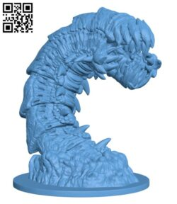 Purple Worm H000312 file stl free download 3D Model for CNC and 3d printer
