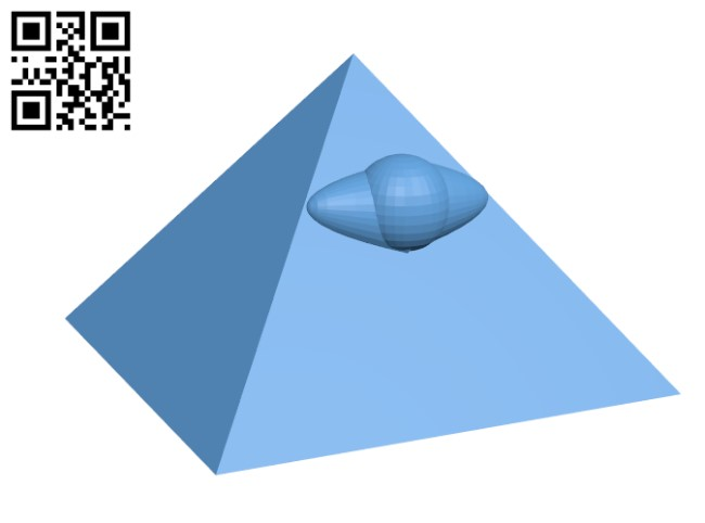 Pyramid with the Mythical Eye H000037 file stl free download 3D Model for CNC and 3d printer