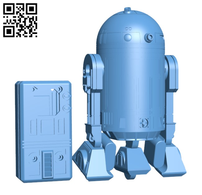 R2D2 - RC toy H000313 file stl free download 3D Model for CNC and 3d printer