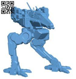 Robot RVN-1X Raven for Battletech H000327 file stl free download 3D Model for CNC and 3d printer