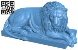 Recumbent Lion H000126 file stl free download 3D Model for CNC and 3d printer