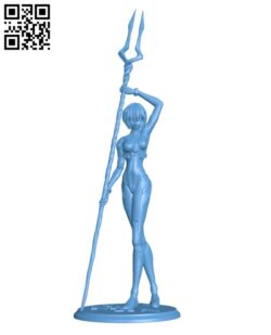 Rei Ayanami – Neon Gensis Evangelion H000214 file stl free download 3D Model for CNC and 3d printer