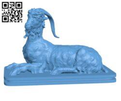 Resting Goat H000486 file stl free download 3D Model for CNC and 3d printer
